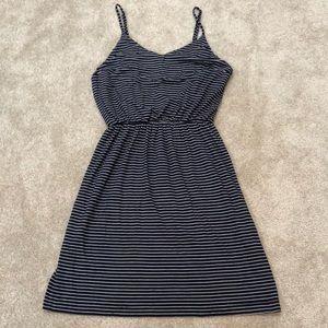 Navy striped Gap short maxi dress